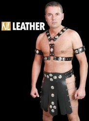 Gladiator skirt by NL Leather - NL-MGB5