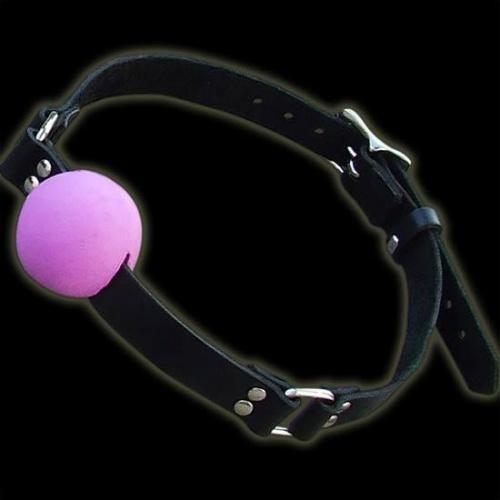 Purple silicone Ball Gag Small - nl-bgs-pur
