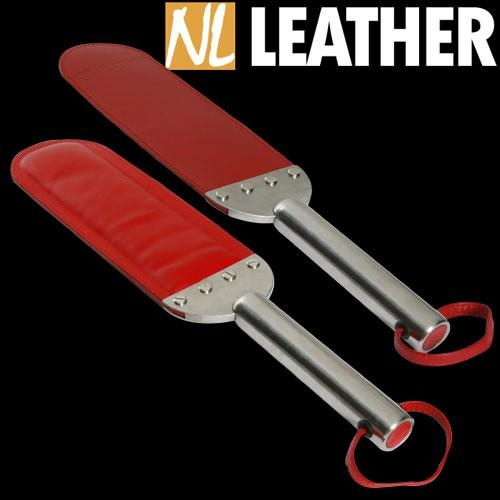 Large red Paddle with stainless steel handle - NL-WPRL