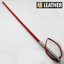 Red Leather Cane in stainless steel - NL-WMC
