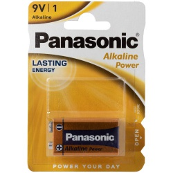 Panasonic 9 Volt Alkaline Battery  - or-07404620000