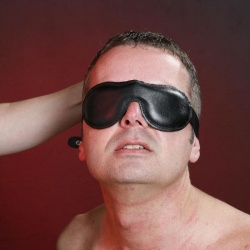 Soft leather lined blindfold - Nl-BLB1