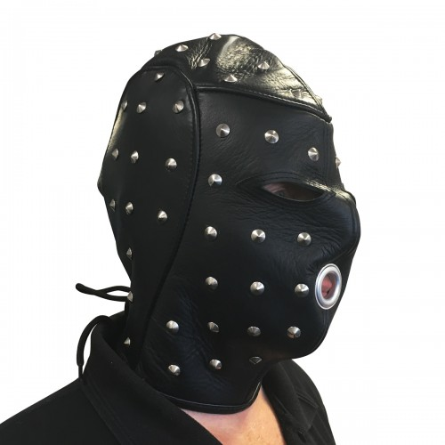 Leather Master Stud Mask by NLLeather