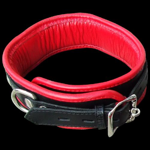 Abschließbares Leder Halsband - nl-bn2