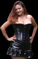 Plus-size PVC Fetish Corset - et-ec001-pvc-plus