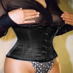 Plus-size Stilett Satin Corset Black - et-ec002-satin-blk-plus