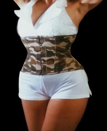 Plus-size waist cincher Camouflage EC002 - ET-EC002-SAF-plus