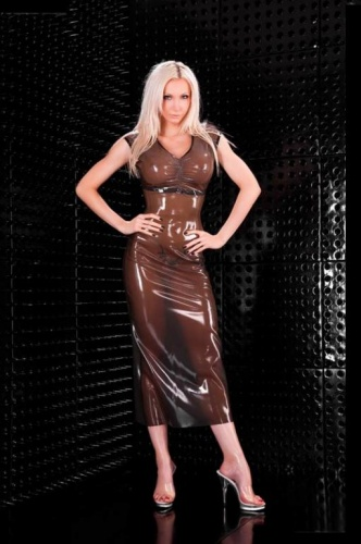 Long Latex Dress - la-3277