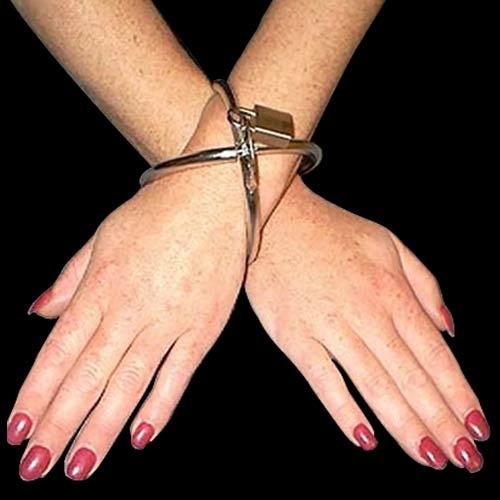 Ellipse Stainless Steel Cross Cuffs Oval Shaped - bhs-081