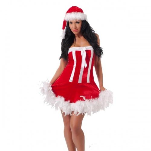 Rimba - Weihnachten Kleid mit Mütze - ri-1814