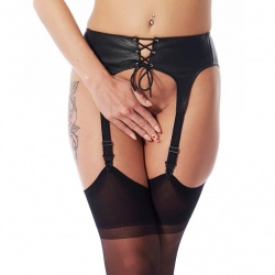 Leather Suspender Belt - ri-7196