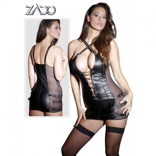 Leder Straps Minikleid ZADO - or-20001051060