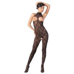Catsuit met open kruis en borsten maten S/L of XL/XXL - or-25500321100