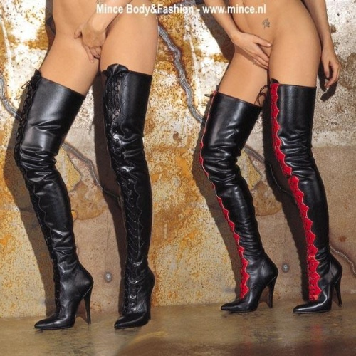 Lace-up tight boots - shoe size 36 + 38  - ri-754