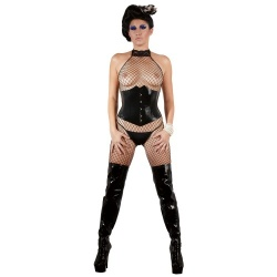 Black latex cincher sizes S, M, XL,  XXL - Or-2900076