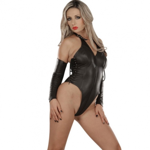 Domina Leder Body 749 - le-749-blk