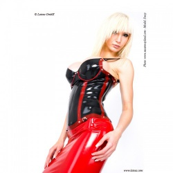Latex Corset with Cups by Latexa - la-1225