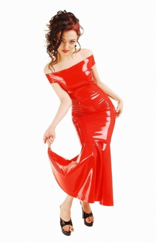 Fetish long latex Dress size Small - AB4217.01.02