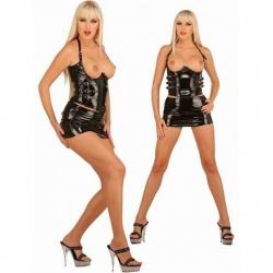 Zwarte lak corsage topless 1518 - le-1518
