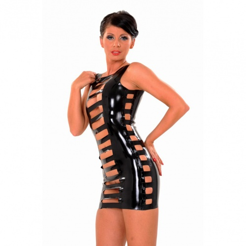 Transparent Latex Dress size Large - AB4590-L-TRNS