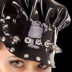 Latex cap with studs and spikes by Anita Berg AB4115 - ab4115