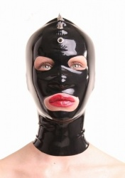 Black Latex mask with spikes by Anita Berg - ab4021z