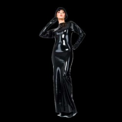 Latex Evening Dress - la-3073