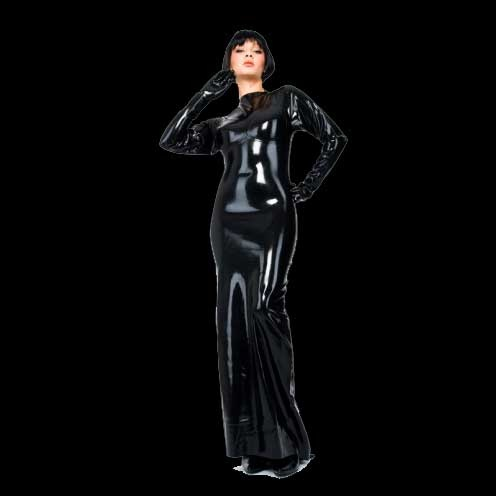 Latex Evening Dress by Latexa - La-3073
