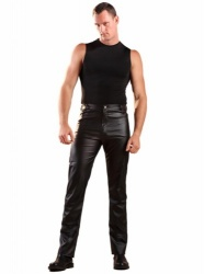 Leatherette Jeans by Honour Clothing  - hr-h1177