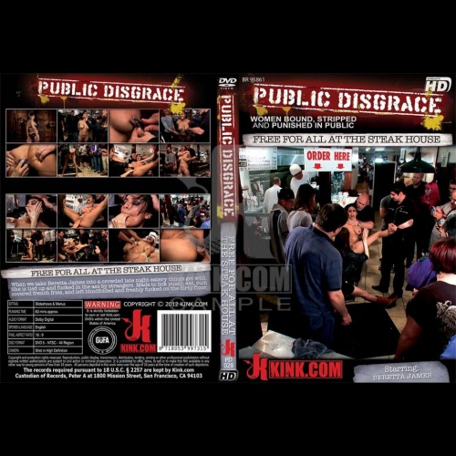 Public Disgrace 28 - Free For All At The Steak House - KINK-PD-028