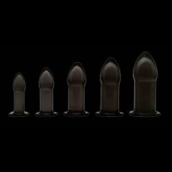 5 Piece Anal Trainer Set - Black  - xr-AC947