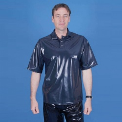 PVC Mannen Polo Shirt maat 4XL - PUL-TO15-4XL